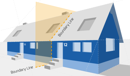Party Wall illustration for Swansea Surveyors